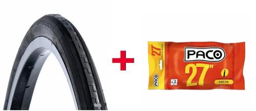 kit pneu + câmara 27 x 1.1/4 monark 10 caloi 10 antiga bike