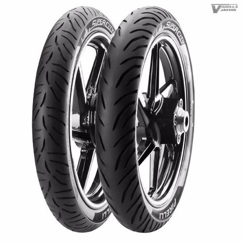 kit pneu fazer 150 dianteiro 2.75-18 + tras 100/80-18 pirell