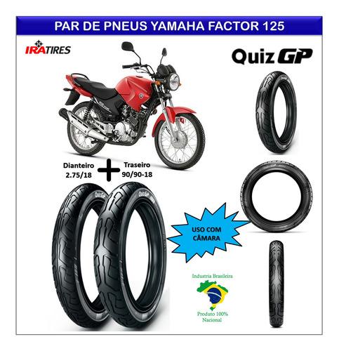 kit pneu yamaha factor 125 dianteiro e traseiro