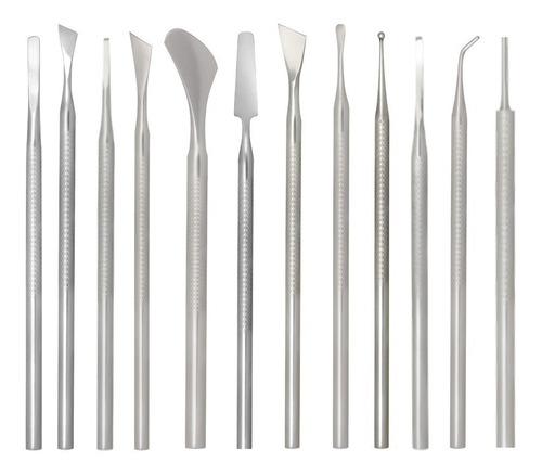 kit podologia profissional 12 instrumentos podólogo pedicure