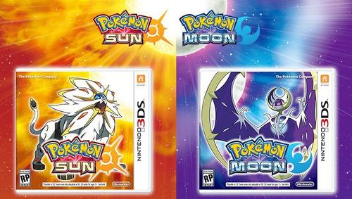 kit pokemon sun + pokemon moon nintendo 3ds lacrados