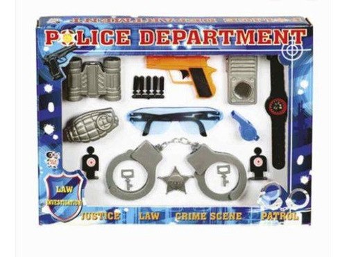 kit policial department com 12pçs ref 620r.