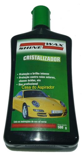 kit polidor e cristalizador pintura automotiva - shine wax