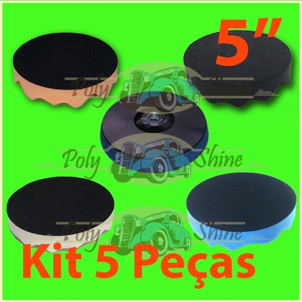 Kit Polimento - 4 Boinas De Espumas + Suporte 5 Polegadas - R  133 ... a5fc4da6931