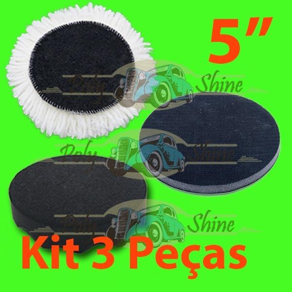 Kit - Polimento Boina De Lã E Espuma + Interface 5 Polegadas - R  70 ... 610253ed579