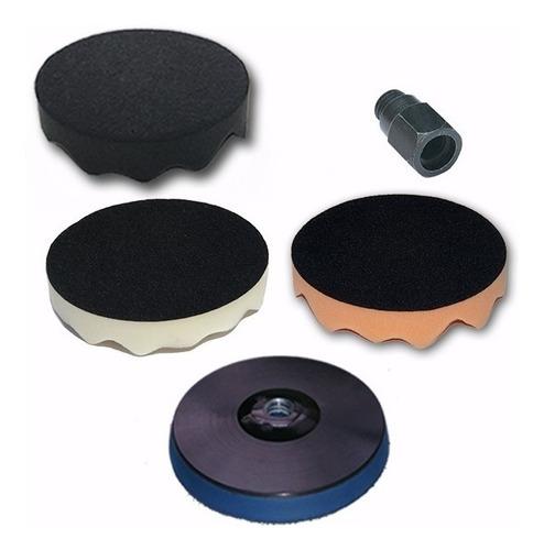kit polimento - boinas de espumas + suporte 6 polegadas