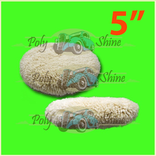 kit polimento - boinas de lã e espuma com prato 5 polegadas