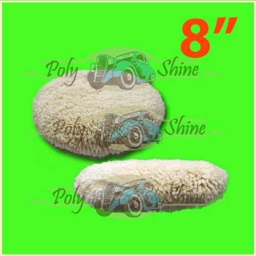 kit polimento - boinas de lã e espuma com prato 8 polegadas