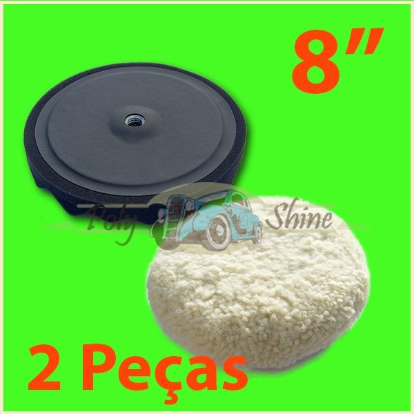 Kit Polimento - Boinas Dupla Face Lã E Espuma C  Prato 8 Pol - R  99 ... 9463ce5cdbb