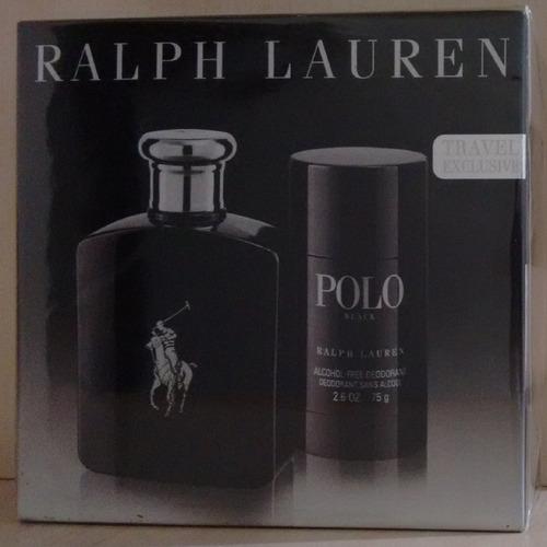 kit polo black edt 125 ml masc - original lacrado
