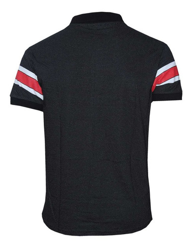 kit polos masculinas com 3 unidades branca - preta e cinza