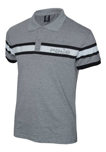 kit polos masculinas com 3 unidades preta - branca e cinza