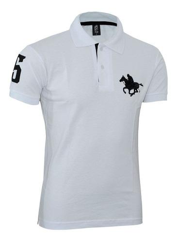 kit polos masculinas plus size rg518 preto- branco- marinho