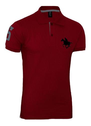 kit polos masculinas plus size rg518 preto-cinza-vermelho