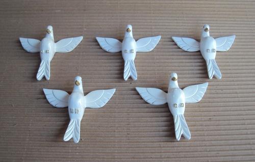 kit pombinho divino pequeno, em branco (20 peças).