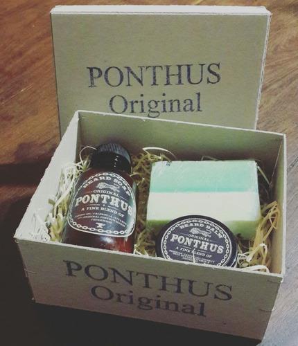 kit ponthus para el cuidado de barba. dia del padre