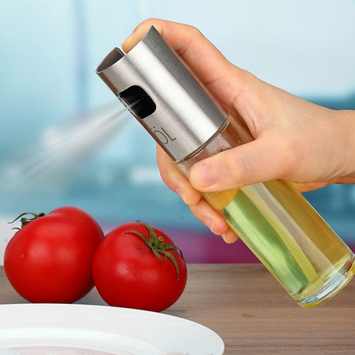 kit porta azeite e vinagre spray aço inox sem desperdício