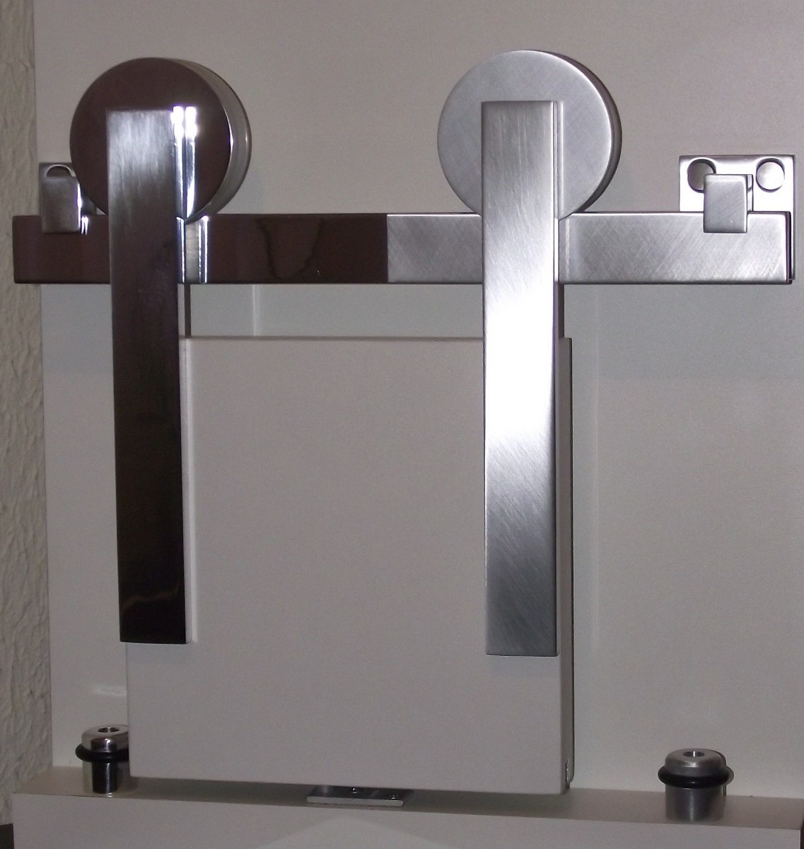 kit porta de correr roldana aparente trilho 2m r 205 00