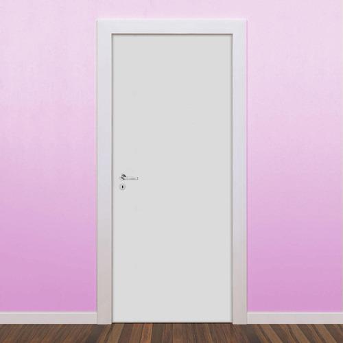 kit porta de madeira lisa drywall 7001 brasgroup 210cmx80cm