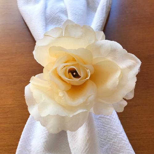kit porta guardanapo argola flor