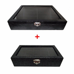 ad41c1d84 Kit Caixa D 15 Relógios+caixa Maleta 10 Óculos+porta Joias G