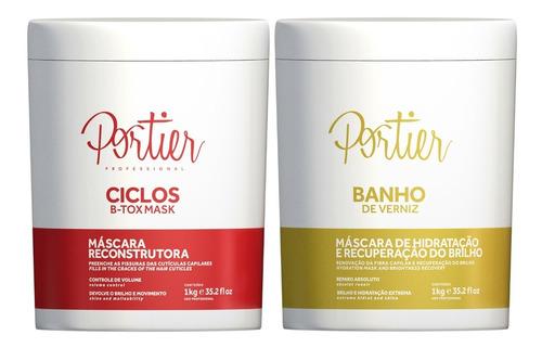 kit portier botox ciclos mask 1kg + banho de verniz 1kg