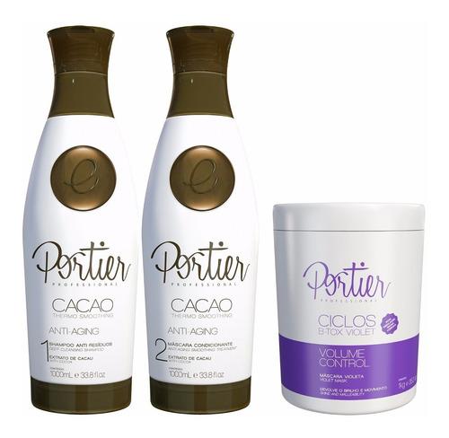 kit portier cacao progressiva + portier botox violet