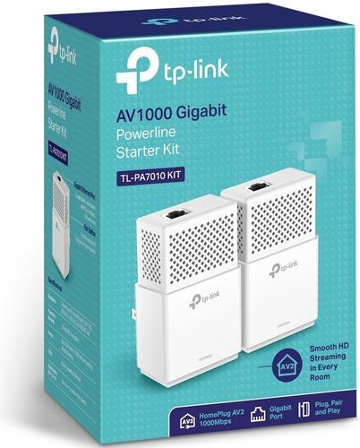 kit powerline extensor de red gigabit tp link tl-pa7010 kit