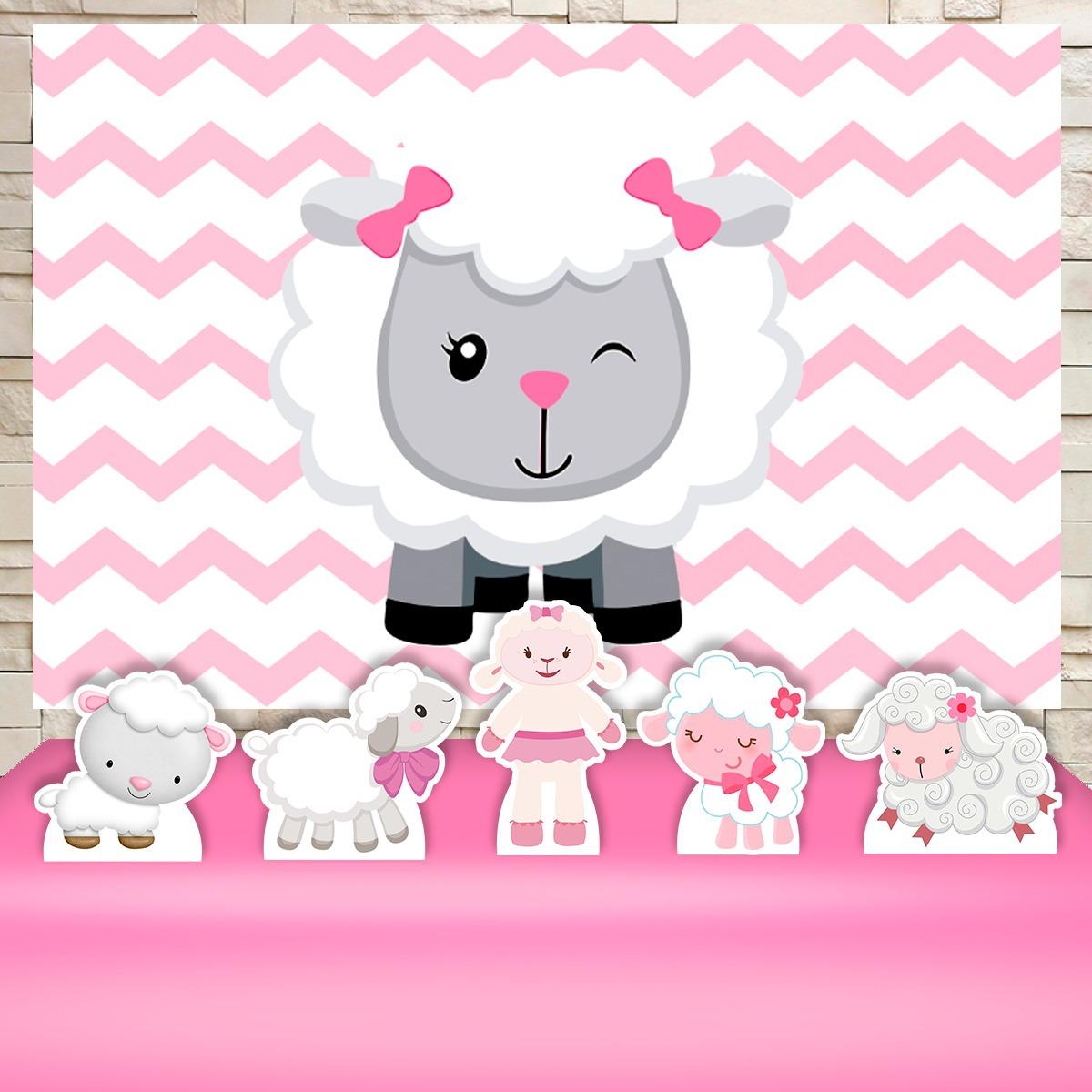 da48f1bd4 kit prata festa infantil chá de bebê ovelhinha rosa. Carregando zoom.