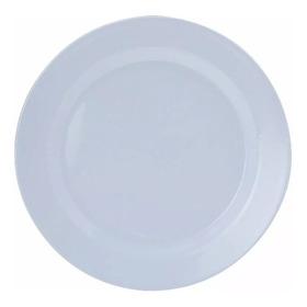 Kit Prato Melamine Branco Raso 25cm E Fundo 23cm Yangzi