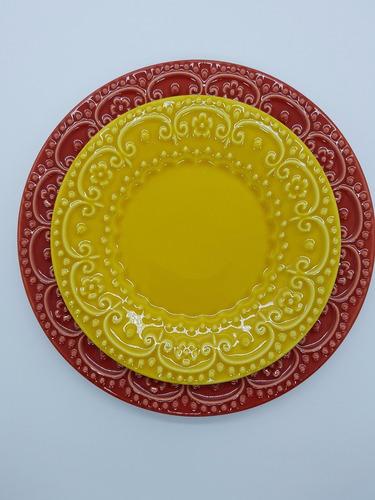 kit pratos villacoisa colorê esparta cores variadas 36 peças