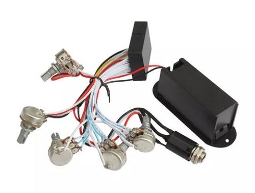 Circuito Ativo Fender Jazz Bass : Kit pré amplificado circuito ativo baixo potenciometros