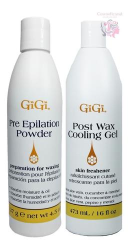 kit pre / post depilación gel aloe vera + talco americano