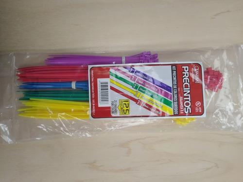 kit precintos varias medidas por 125 unidades multicolor