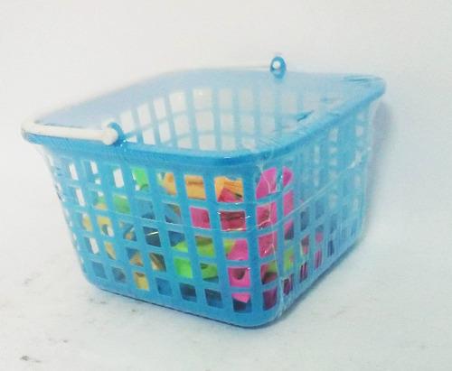 kit pregador prendedor de roupas com cesto colorido 16 peças