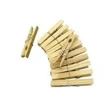 kit pregadores prendedores roupas em madeira com 120 un