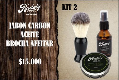 kit premium para afeitado rudely 2