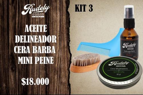 kit premium para afeitado rudely 3