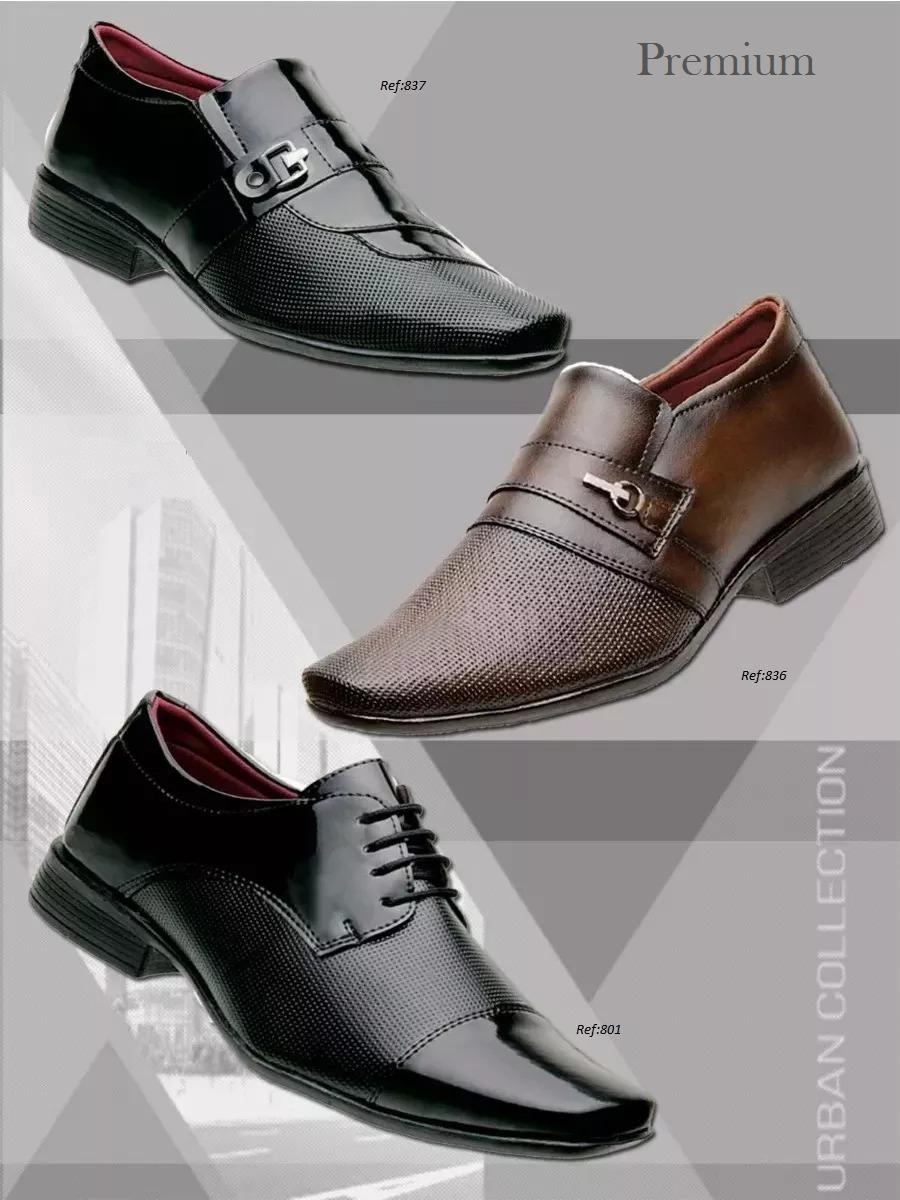 a63a330e0 kit premium sapato social verniz 3 pares. Carregando zoom.