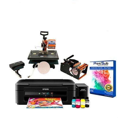 3ef7826048 Kit Prensa Caneca + Plana 29x38 + Impressora Epson + Brindes - R  3.290