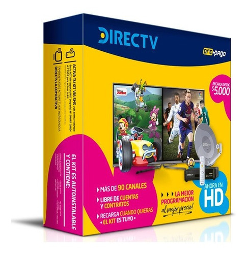 kit prepago directv hd tv satelital