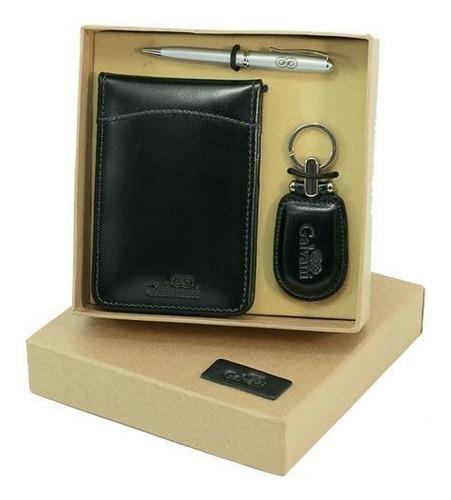 kit presente em couro legítimo 910 * galvani *