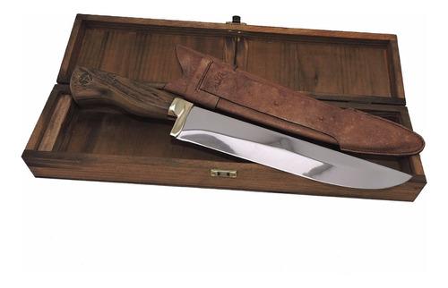 kit presente faca gaucha churrasco caixa madeira 9 polegadas