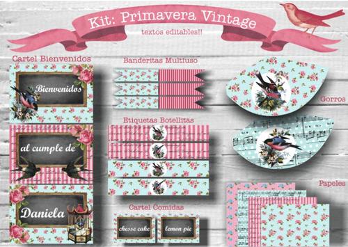kit primavera vintage