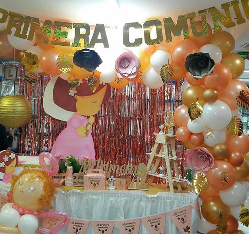 kit primera comunión bautizo fiesta + recordatorios x24 inv