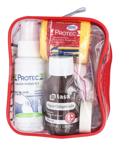 kit primeros auxilios walfort antibacterial desinfectante