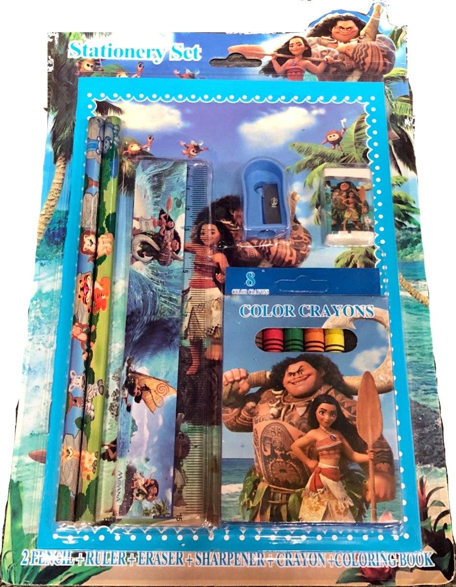 Kit Princesa Moana De Colorir Com 6 Itens Para Desenho R 34 90