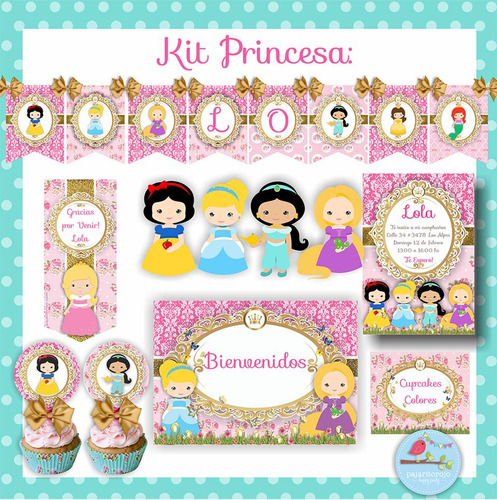 kit  princesas disney