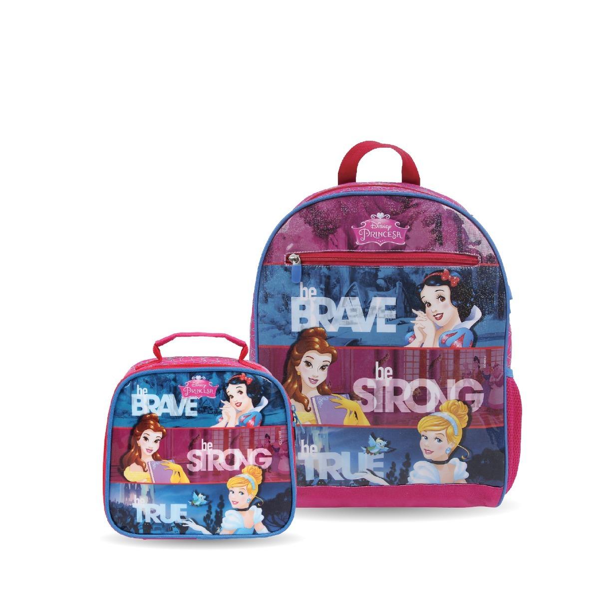 4e8baf4e9 kit princesas disney mochila + lancheira escolar infantil. Carregando zoom.