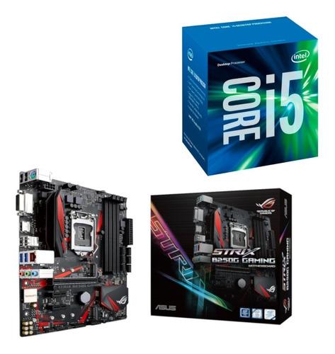 kit processador i5 7400 + asus strix rog b250g lga 1151 ddr4